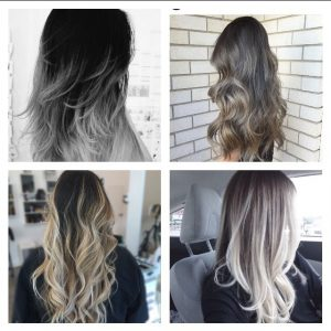 extensiones con mechas californianas
