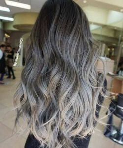 mechas californianas platinadas