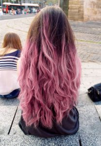 mechas californianas rosas